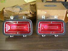 NOS 1970 Ford Galaxie 500 Tail Light Lenses + Bezels Chrome Trim Assemblies