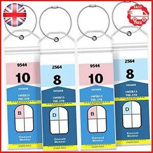 GreatShield Cruise Luggage Tag Holder 4 Pack Zip Seal & Steel Loops, Water PVC