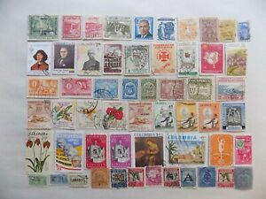 COLUMBIA collection of used stamps off paper-10-12-J-We combine shipping