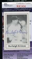 BURLEIGH GRIMES 1978 GRAND SLAM DODGERS Hand Signed JSA Certified Autographed