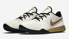 NIKE KB MENTALITY BASKETBALL SHOES US 13 KOBE BRYANT CREAM GOLD BLACK NEW