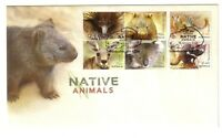 """2015 FDC Australia. Native Animals. """"Wombat"""" PictFDI """"GREENBUSHES"""""""