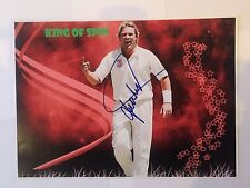 Shane Warne AUTOGRAPHED picture photo