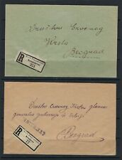 B&D: 1918 lot of 6 Austria/Serbia military censored covers to Belgrad during WWI