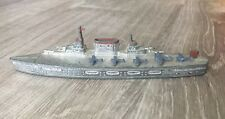 Vintage Tootsie Toy Aircraft Carrier Boat With Planes Metal Toy 6""