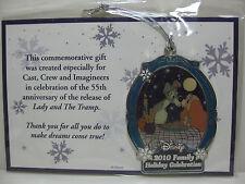 Disney Lady & The Tramp 2010 Family Holiday Celebration Christmas Ornament Cast