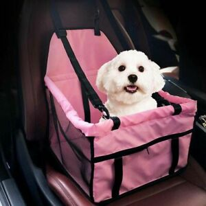 Car Seat For Dog Pet Cat Box Booster Travel Lining Chair Bag Hammock Us Carrier