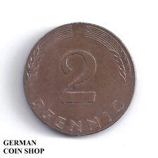 FEHLPRÄGUNG - BRD 2 Pfennig 1977 J - auf Pfennigschrötling geprägt - SELTEN