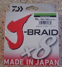 Daiwa J-BRAID Braided 10-150MU Line 10lb 165yds 150 M. Chartreuse