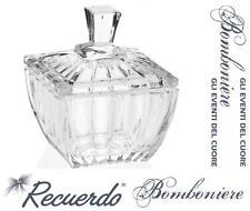 BOMBONIERA Made in Italy COPPA in FINE CRISTALLO PORTA DOLCI CIOCCOLATINI PR490