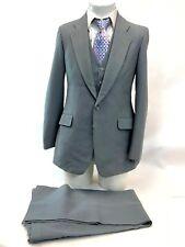 Vintage Fioravanti Ls Ayres Mens Grey Pinstripe 3 Piece Retro Funky Mens Suit M