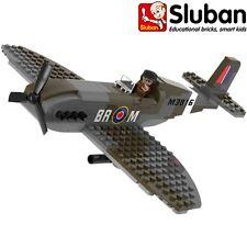 SLUBAN MILITARY WW2 RAF SPITFIRE AEROPLANE BUILDING BRICKS 182 PIECES ARMY 70071