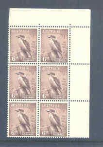 AUSTRALIA PREDECIMAL 1956 ZOOLOGICAL NO W/M BLOCK VERY FINE MNH...............2