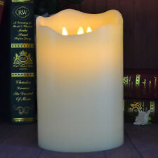 3-Moving Wicks Hug Candles, Battery Operated Flameless with Timer and Remote 9''