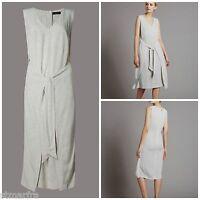 NEW M&S MARKS & SPENCER AUTOGRAPH DRESS SHIFT POLKA SPOTTY BLACK WHITE 8 - 16