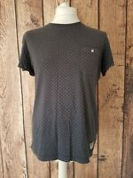 Mens Jack Wills T Shirt Small Grey Dots 42 Chest