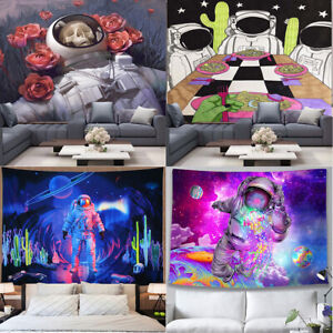 Psychedelic Galaxy Space Hippie Spaceman Fantasy Universe Astronaut Tapestry