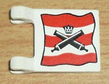 Lego Piraten 1 Fahne / Flagge (2 x 2) für Spanier, alte Version