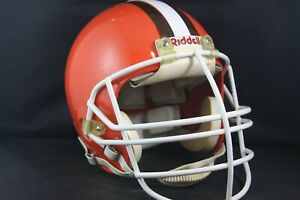 Rare Vtg Issued Used Worn Football Helmet Riddell VSR1 CLEVELAND BROWNS