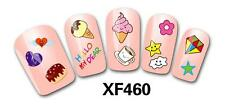 Ice Cream Diamond 3D Nail Art Sticker Decal Decoration Manicure Water Transfer
