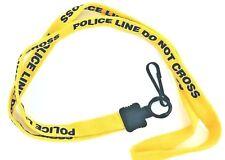 POLICE LINE - DO NOT CROSS Lanyard, neck strap, key holder. Law Enforcement Gift