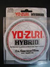 Yo-Zuri Hybrid Fluorocarbon 12 lb. 275yd Camo Green Fishing Line 12lb. 275 yd