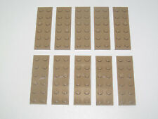 Lego ® Lot x10 Plaques Double Beige Foncé 2x6 Plate Dark Tan ref 3795 NEW