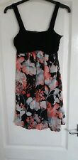 West One Black And Coral Floral Dress Size 10 New With Tag