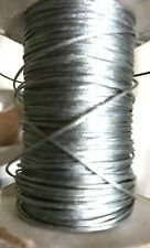 10 metres x.5mm thick Cotton Wax Cord, silver grey - combined post savings