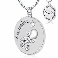 Wassermann Halskette Star Zeichen Treu Ehrlich 925