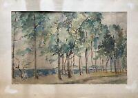 Erich Hinz 1908 Bäume am Meer Ostsee Berliner Maler 50 x 70 cm