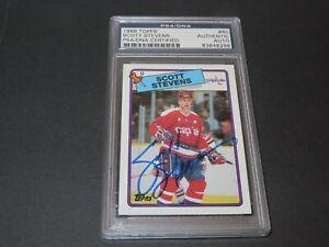 Scott Stevens Signed 1988 Topps Card #60 Autographed Capitals PSA/DNA COA