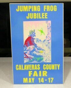 1950's Jumping Frog Jubilee Angels Camp Calaveras County Fair CA Poster Yardley