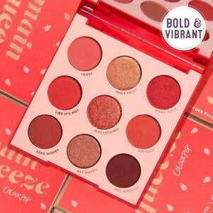 COLOURPOP Main Squeeze Monochromatic Red Eyeshadow & Pigment 9 Pan Palette NIB