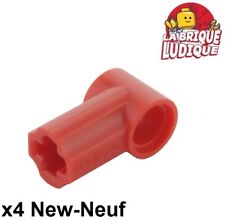 Lego technic - 4x Axe Axle pin connector angled #1 rouge/red 32013 NEUF