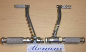 Universal rearset footpeg controls, L/H shift, R/H brake, by Menani Racing 1056L