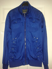Mens Long Sleeved Jacket - Duck And Cover - Project 108 - Blue - Size Large