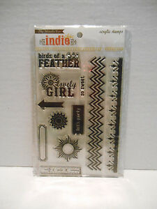"""My Minds Eye Indie Chic Acrylic Stamps ~ GINGER """"PICTURES"""" STAMPS 2012 ~ NEW"""