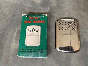 Vintage JC Higgins Pocket Hand Warmer -Chrome-Made in Japan