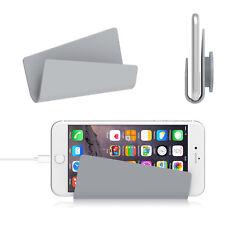 Wandhalter Handyhalter Halter Telefonständer iPhone iPad Handys Tablette Grau