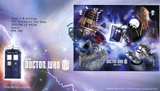 Royal Mail fdc 2013 Dr Who first day cover Miniature Sheet, Cardiff pk