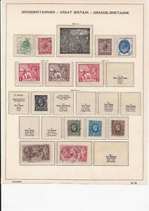 Lot:37990  GB George V & GVI  album pages part complete issues