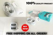 New In Car-Charger White for Apple iPhone 5S 5C 5 iPhone 6 6 Plus 7 7 8 Plus