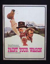 PAINT YOUR WAGON 1970 Orig souvenir movie programme Clint Eastwood Lee Marvin