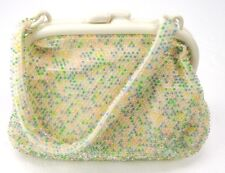 Vintage 60s Pastel Plastic Tiny Beaded Small Handbag Evening Purse Gaymode