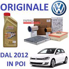 KIT TAGLIANDO FILTRI ORIGINALI + OLIO CASTROL VW GOLF 7 VII 1.6 2.0 TDI DAL 2012