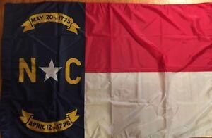 VTG North Carolina State Flag Pole Hem * GSA CONTRACT FLAG DISPLAYED US CAPITAL