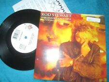 """Rod Stewart Featuring Ronald Isley This Old Heart Of Mine 7"""" Vinyl Single +P/R"""