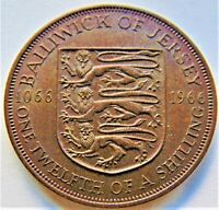 1966 Jersey Elizabeth II, Commemorative 1/12 Shilling, Grading Abt UNCIRCULATED.