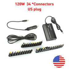 Us 120W 34tips Universal Home Car Charger Laptop Notebook Power Supply Adapter